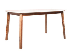 Galatea Marble XL Dining Table in Teak Finish