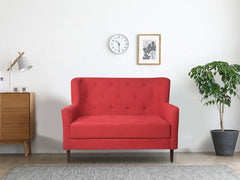 Frida Loveseat 2 Seater Sofa In Cotton Fabric
