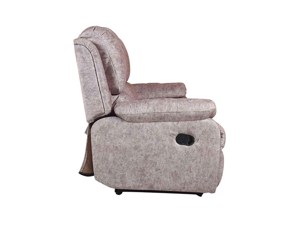 Tribbiani Three Seater Recliner Sofa In Suede Fabric