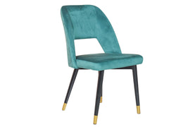 Neva Accent Chair In Green Velvet Color
