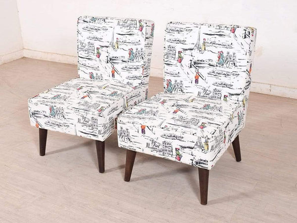 Greta Lounge Chair (Set Of 2) In Premium Floral Fabric GMC Express Chair FN-GMC-004346