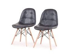 Greta Lounge Cum Dining Chairs In Black Color (Set of-1) GMC Standard Chair FN-GMC-003537