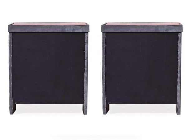 Holmebrook Side Table in Grey Color (Set of - 2) Table