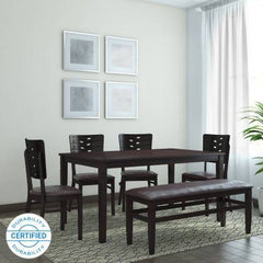 home by Nilkamal Fern Solid Wood 6 Seater Dining Set GMC Express Table FN-GMC-006837
