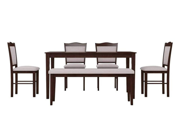 Homes Cocos Solid Wood 6 Seater Dining Set GMC Express Table FN-GMC-007715