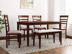 Homes Hayman Solid Wood 6 Seater Dining Set GMC Express Table FN-GMC-007567