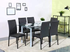 Homes Luzon Glass 6 Seater Dining Set GMC Standard Table FN-GMC-007719