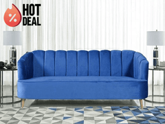 Nelio 3 Seater Sofa in Velvet Fabric