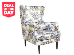 Genoa Wing Chair in Floral fabric
