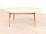 Jiya Round Coffee Table In Natural Finish GMC Express Table FN-GMC-005051
