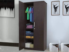 Julian Engineered Wood 2 Door Wardrobe GMC Standard Storage FN-GMC-007896