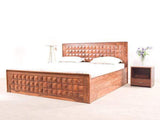 Julian King Size Bed with Drawer In Diamond Finish By WoodsWorth GMC Express Beds FN-GMC-003920