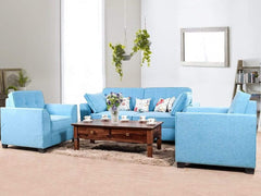 Keeper Five Seater Sofa Set In Blue Color GMC Standard Sofa FN-GMC-003074