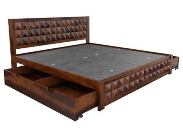 Induscraft Sheesham Wood Solid Wood King Drawer Bed