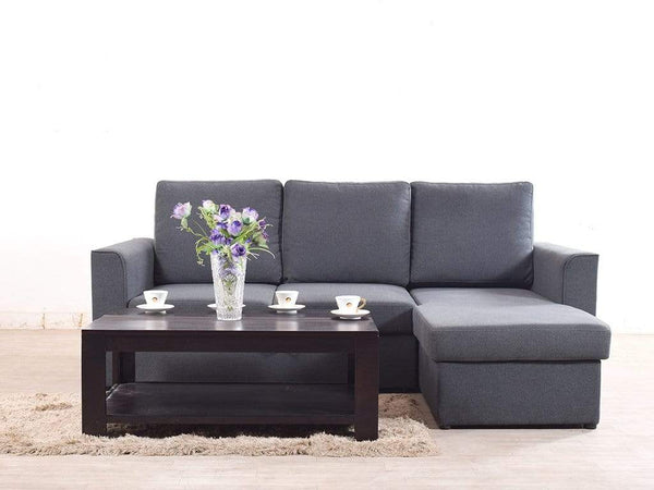 Kowloon Sectional Sofa Cum Bed In Charcoal Grey Color By Urban Ladder GMC Express Storage FN-GMC-004318