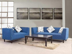 Liana 3+2 Sofa Set In Premium Blue Fabric GMC Standard Sofa FN-GMC-005617