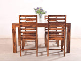Liana Four Seater Dining Set In Teak Finish GMC Express Table FN-GMC-004041