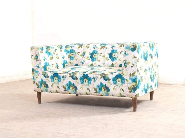 Liana Love-Seat In Premium Floral Green Fabric GMC Express Sofa FN-GMC-005295