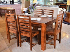 Liana Six Seater Dining Set In Teak Finish GMC Express Table FN-GMC-004188
