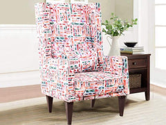 Lindo Wing Chair In Premium Coral Fabric GMC Standard Chair FN-GMC-003904