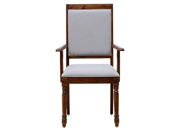 Louis Solid Wood Armchair in Provincial Teak Finish by Amberville GMC Express Chair FN-GMC-008402