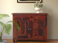 Louis Solid Wood Cabinet in Honey Oak Finish by Amberville GMC Express Storage FN-GMC-008365