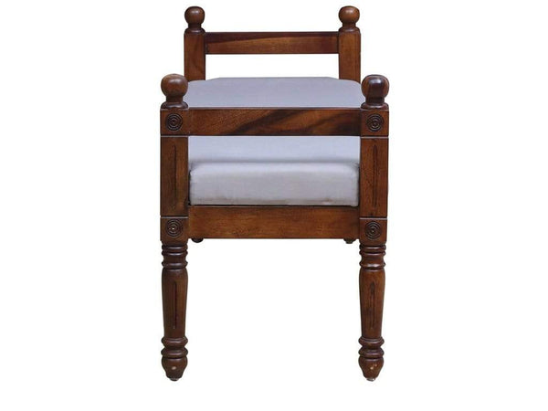 Louis Solid Wood Settee in Provincial Teak Finish by Amberville GMC Express Chair FN-GMC-008372