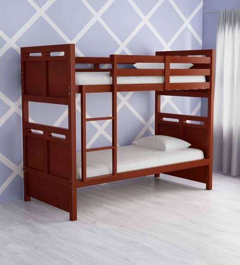 McLuis Bunk Bed in Walnut Finish by Mollycoddle GMC Express Beds FN-GMC-005040