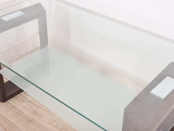 Milton Coffee Table In Dual Layer Glass Top GMC Standard Table FN-GMC-003584