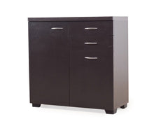 Mitchell Shoe Rack Cum Cabinet In Brown Finish GMC Standard Storage FN-GMC-003700
