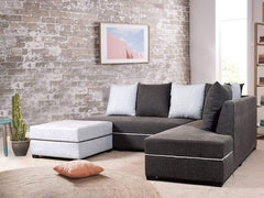 Nelio Sectional Sofa With Ottoman GMC Standard Sofa FN-GMC-004548