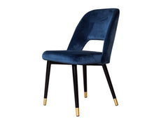 Neva Accent Chair In Blue Velvet Fabric GMC STANDARD Chair FN-GMC-008073