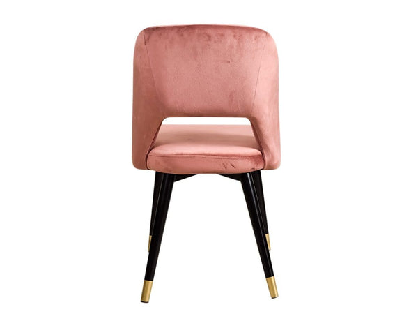 Neva Accent Chair In Peach Velvet Color GMC STANDARD Chair FN-GMC-008074