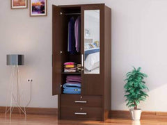 Nevada Engineered Wood 2 Door Wardrobe GMC Express Storage FN-GMC-008127