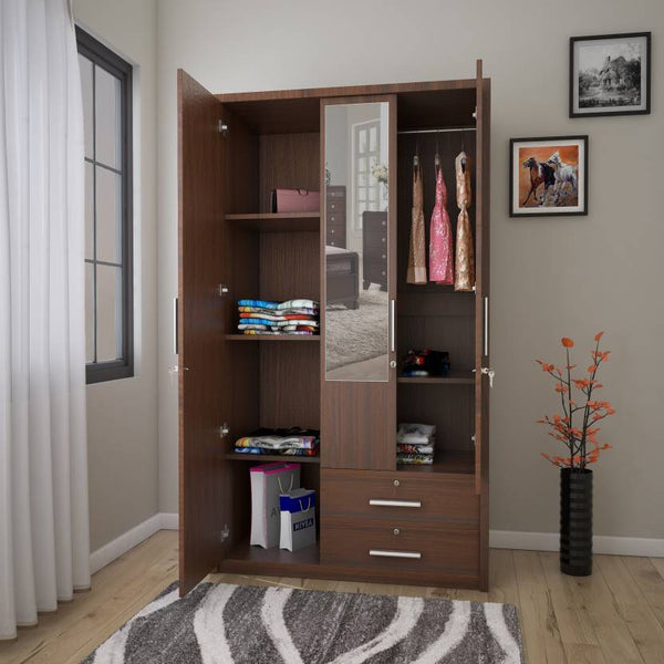 Nevada Engineered Wood 3 Door Wardrobe GMC Standard Storage FN-GMC-006364