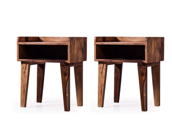 Nexin Bedside Table In Teak Finish bed side table