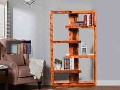 Nikon Display Unit cum Book Shelf in Teak Finish GMC Standard Storage FN-GMC-004225