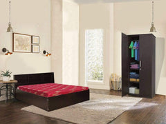 Opus Queen Size Storage Bed + Julian 2 Door Wardrobe + Dunlop Mattress 60x78x4 (Combo Offer GMC Express Beds FN-GMC-008579