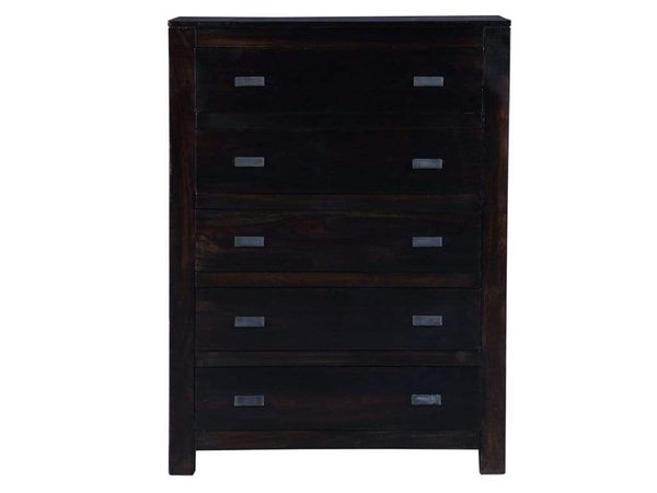 Oriel Solid Wood Chest of Drawers in Warm Chestnut Finish by Woodsworth GMC Standard Storage FN-GMC-008375