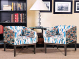 Orita Arm Chair In Floral Fabric (Replica) Set of - 2 GMC Express Chair FN-GMC-004836