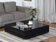 Paola Coffee Table in Glossy Black Finish by CasaCraft GMC Express Table FN-GMC-005413