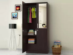 Julian Engineered Wood 2 Door Wardrobe with Mirror