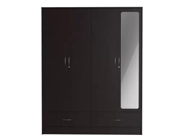 Andes Engineered Wood 4 Door Wardrobe