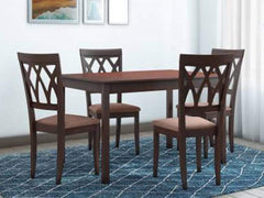 Peak Solid Wood 4 Seater Dining Set GMC Express Table FN-GMC-007228