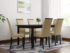 Perfect Homes Arranmore Solid Wood 6 Seater Dining set GMC Standard Table FN-GMC-006417