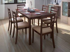 Perfect Homes Hayman Engineered Wood 6 Seater Dining Set GMC Standard Table FN-GMC-007714