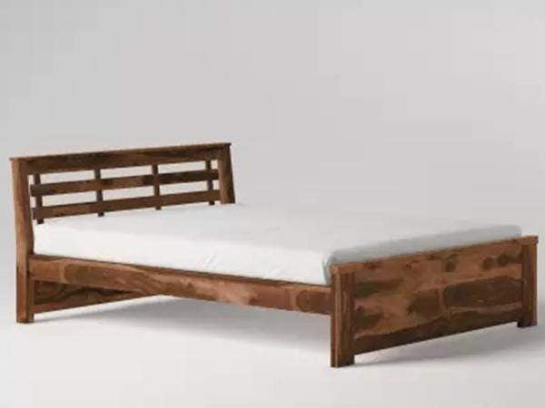 Perfect Homes Solid Wood Without Storage Bed In Teak Finish Beds