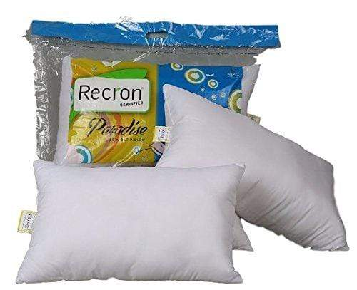Recron Polyester Cotton Paradise Pillow (White) Set Of 2 FN-GMC-008059