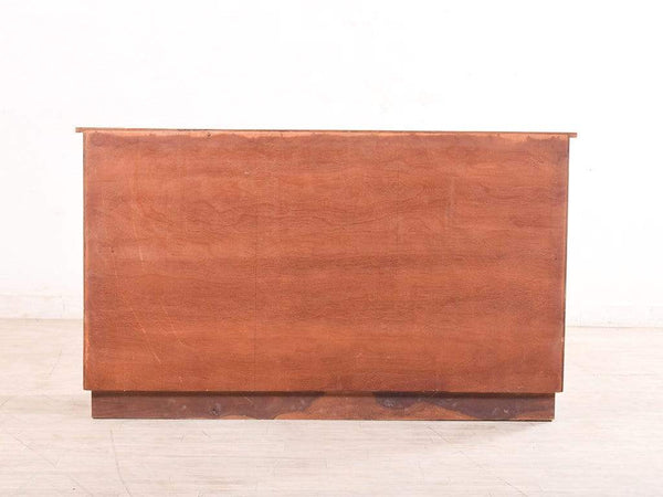 Reden Chest Of Drawers Cum Cabinet In Teak Finish GMC Express Table FN-GMC-003646