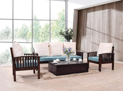 Reden Five Seater Wooden Sofa Set In Mahogany Finish GMC Standard Sofa FN-GMC-003279